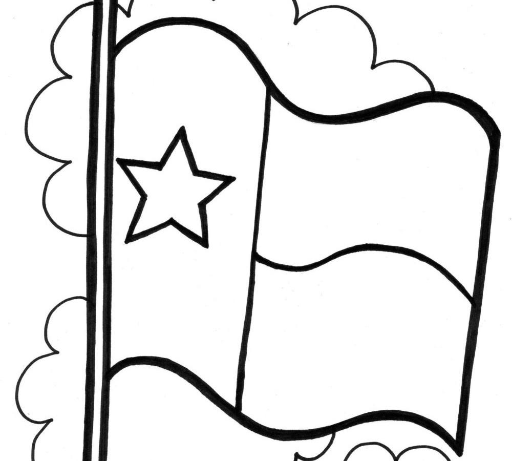 1000x900 Texas Flag Clipart Black And White