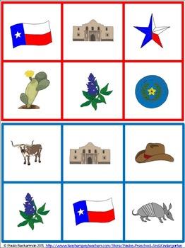 262x350 Texas Symbols Bingo By Paula's Preschool And Kindergarten Tpt