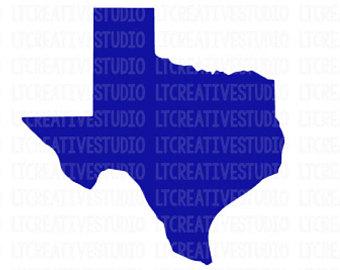 340x270 Texas Silhouette Etsy