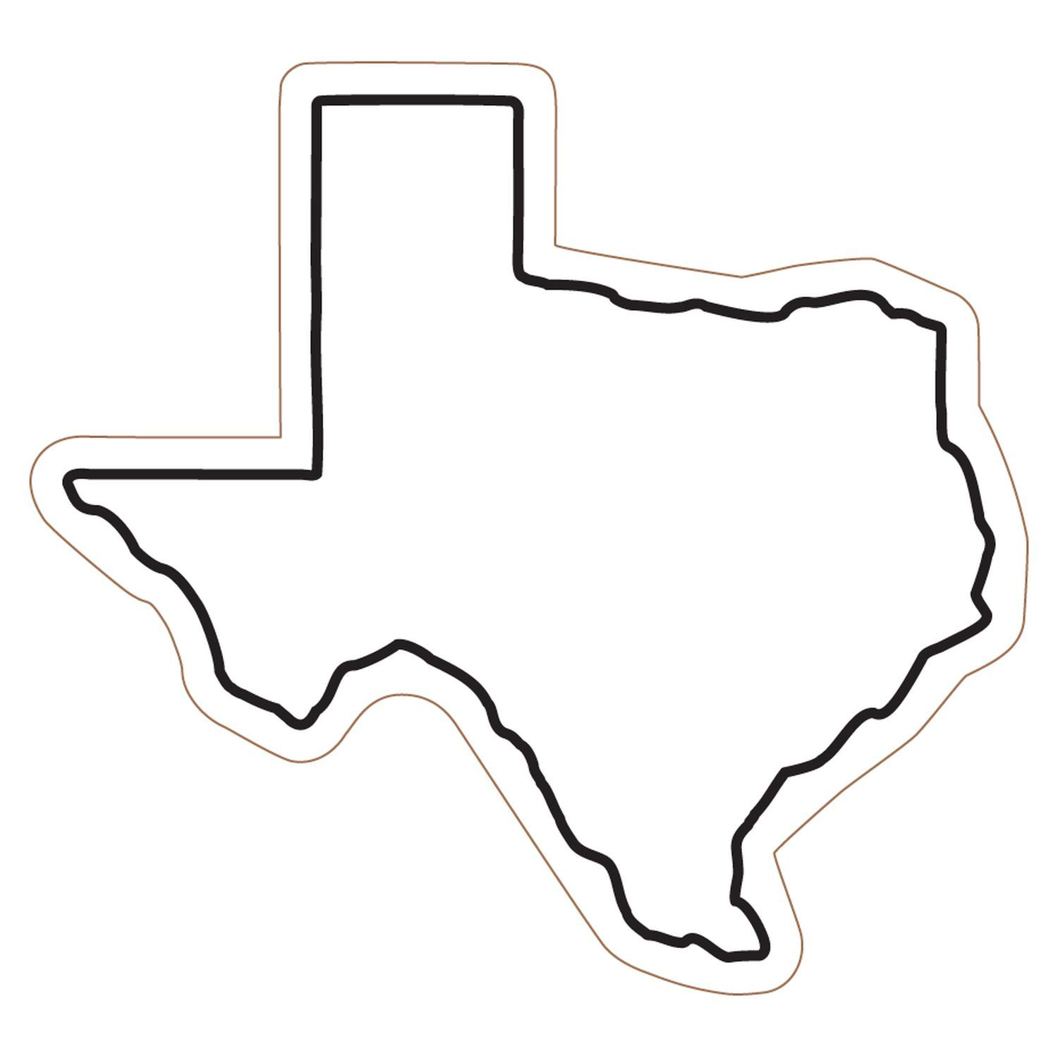 1500x1500 Free Clipart Of Outline Texas Clipart 3