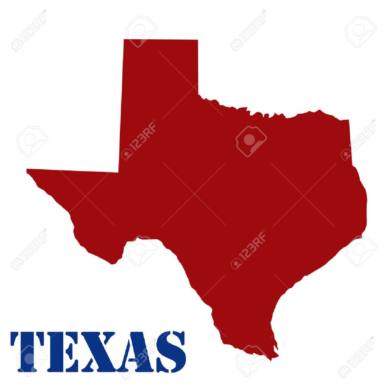 1300x1300 Map Of Texas On White Background, Vector Illustration Royalty Free