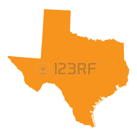 450x450 Texas State Counties Map With Boundaries And Names Royalty Free