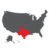 160x160 Texas Black Map On White Background Vector Stock Image
