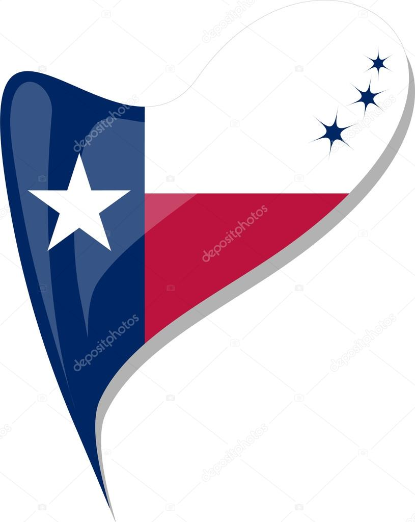 815x1024 Texas Flag Button Heart Shape. Vector Stock Vector Fotoscool