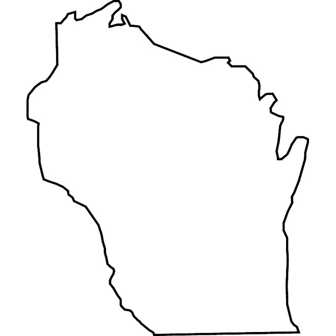 660x660 Wisconsin Vector Map