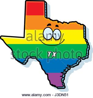 305x320 A Cartoon Illustration Of The State Of Texas Smiling Stock Vector