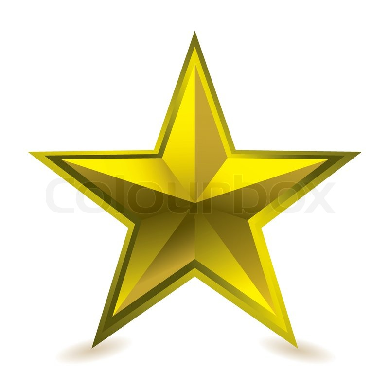 800x800 Gold Star Award Ideal Gift Icon For Golden Performance Stock