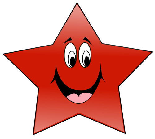 500x446 1886 Free Smiling Texas Star Vector Public Domain Vectors