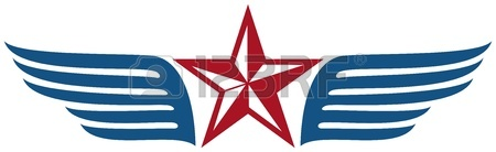 450x138 Star And Wings Royalty Free Cliparts, Vectors, And Stock