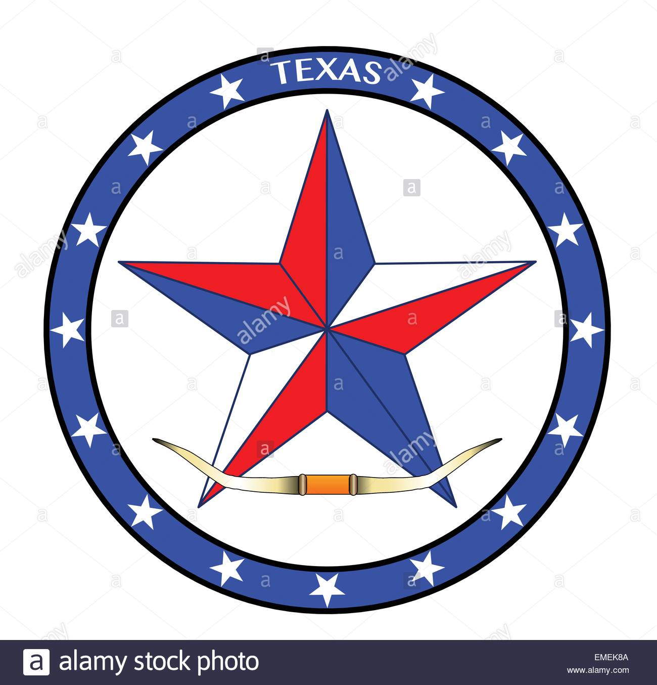 1300x1354 Texas Star And Steer Horns Stock Vector Art Amp Illustration, Vector