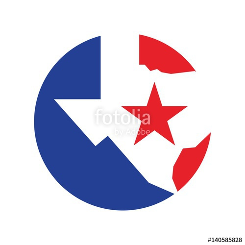 500x500 Texas Logo Vector. Lone Star Of Texas Logo Vector. Stock Image
