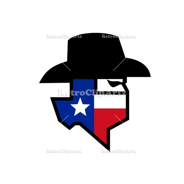 590x590 Bandit Texas Flag Icon Vector Stock Illustration. Icon Style