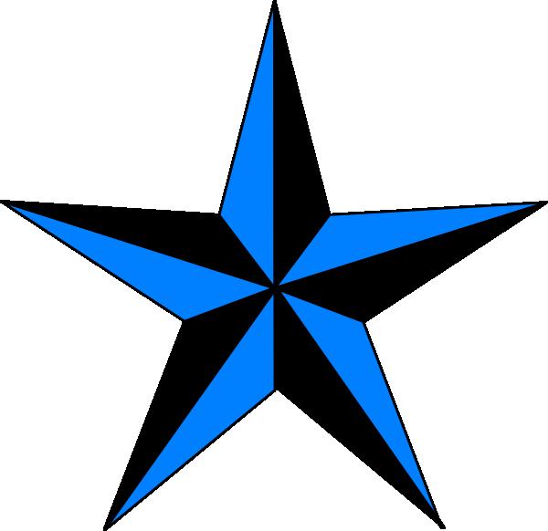 600x582 Blue Amp Black Texas Star Clip Art