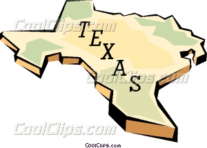 300x215 Texas State Map Vector Clip Art