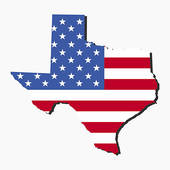 170x170 Clipart Of Usa American Texas State Map Outline With Grunge Effect