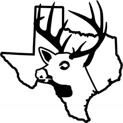400x399 Texas State Deer Buck Hunting Vinyl Decal Sticker