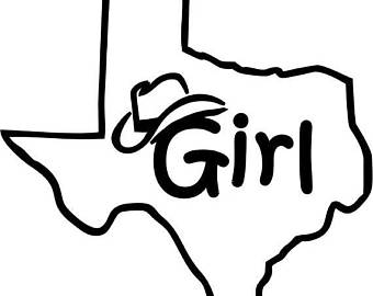 340x270 Texas Outline Hat Etsy