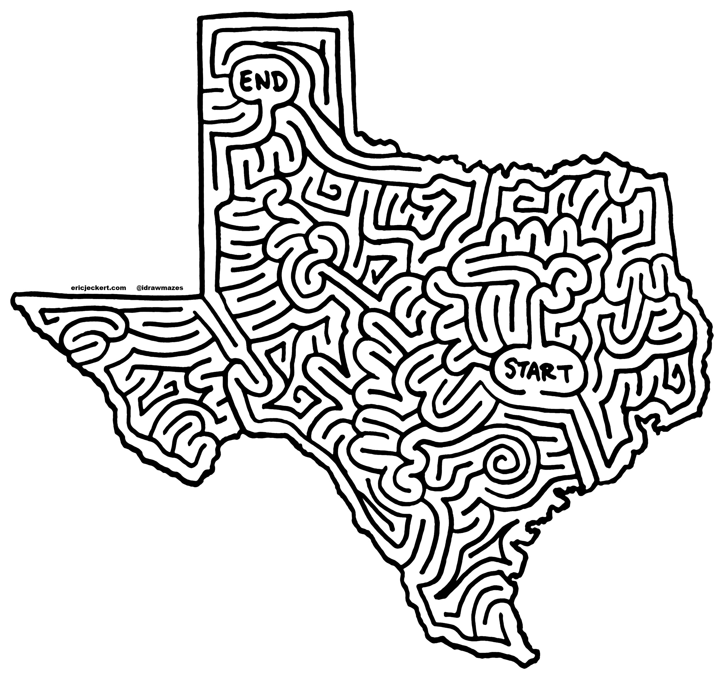 2500x2346 Mazes Texas