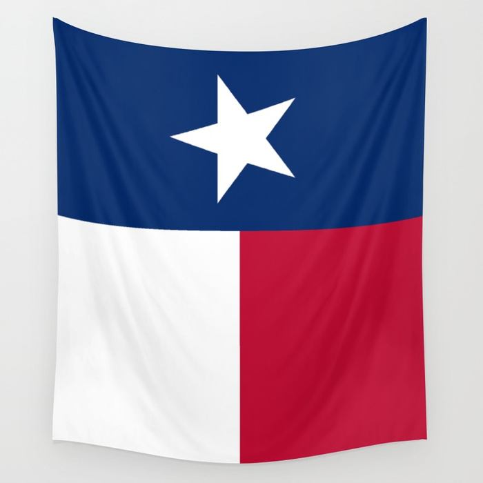 700x700 State flag of Texas, banner version Wall Tapestry by