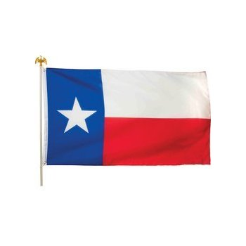 350x350 5#39 x 3#39 Texas State Flag and Pole Kit Outdoor Flags