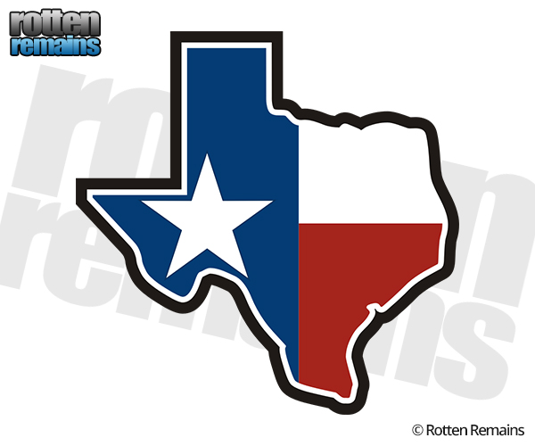 600x500 Texas State Flag Map TX Texan Sticker Decal God Bless Texas