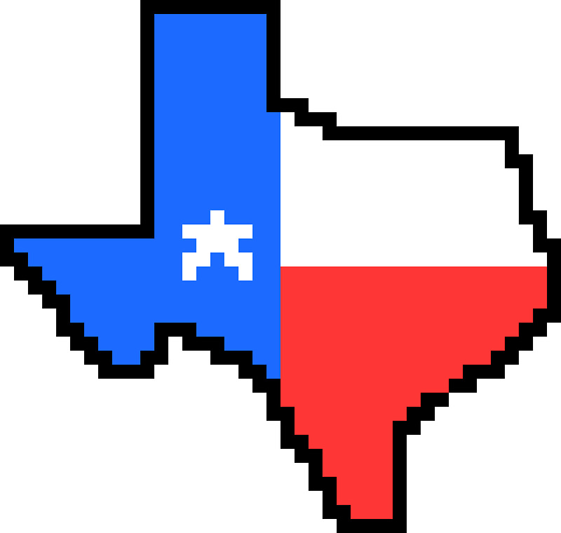800x760 Texas State Flag Pixel Art Stickers by FlockOfSeagals Redbubble