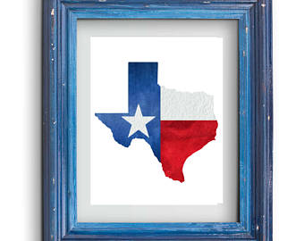 340x270 Texas flag shape Etsy