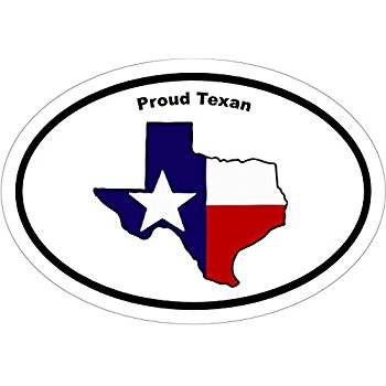 350x350 TEXAS State Flag design Vinyl Decal Sticker