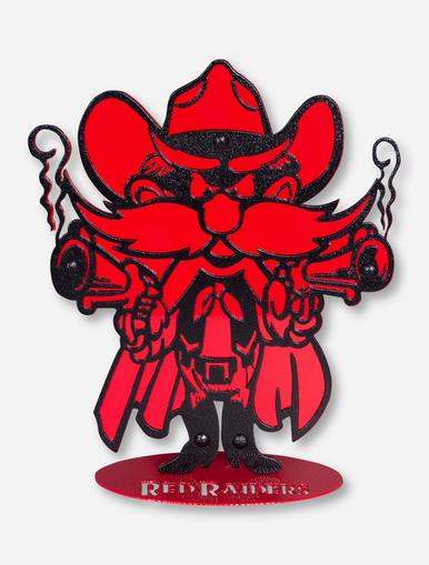 386x509 Texas Tech Red Raiders Raider Red 12 Ironworks Stand