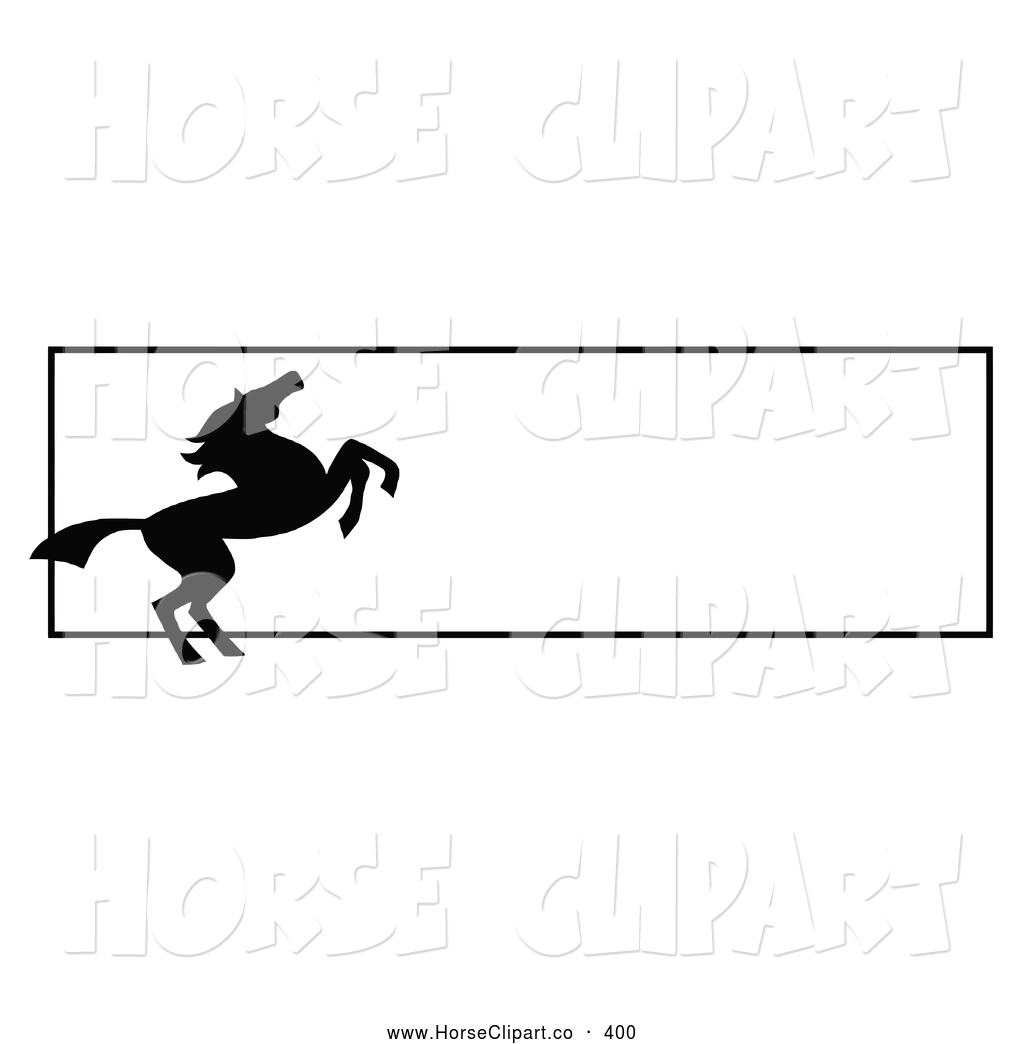 1024x1044 Clip Art Of A Rearing Silhouetted Black Horse Website Banner