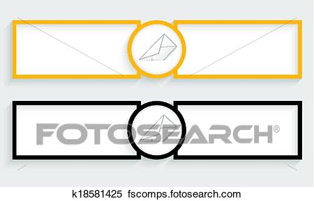 450x289 Clipart Of Double Text Boxes With Envelope K18581425