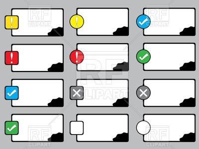 400x300 Text Boxes Royalty Free Vector Clip Art Image
