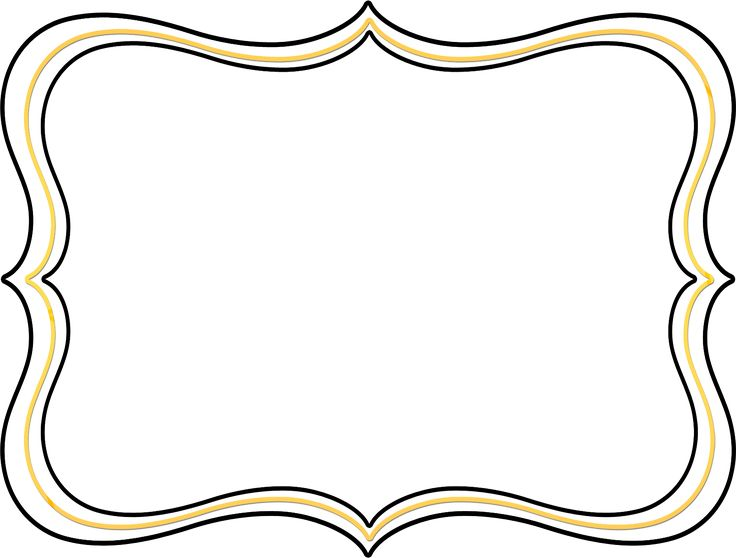 736x558 Yellow Clipart Picture Frame