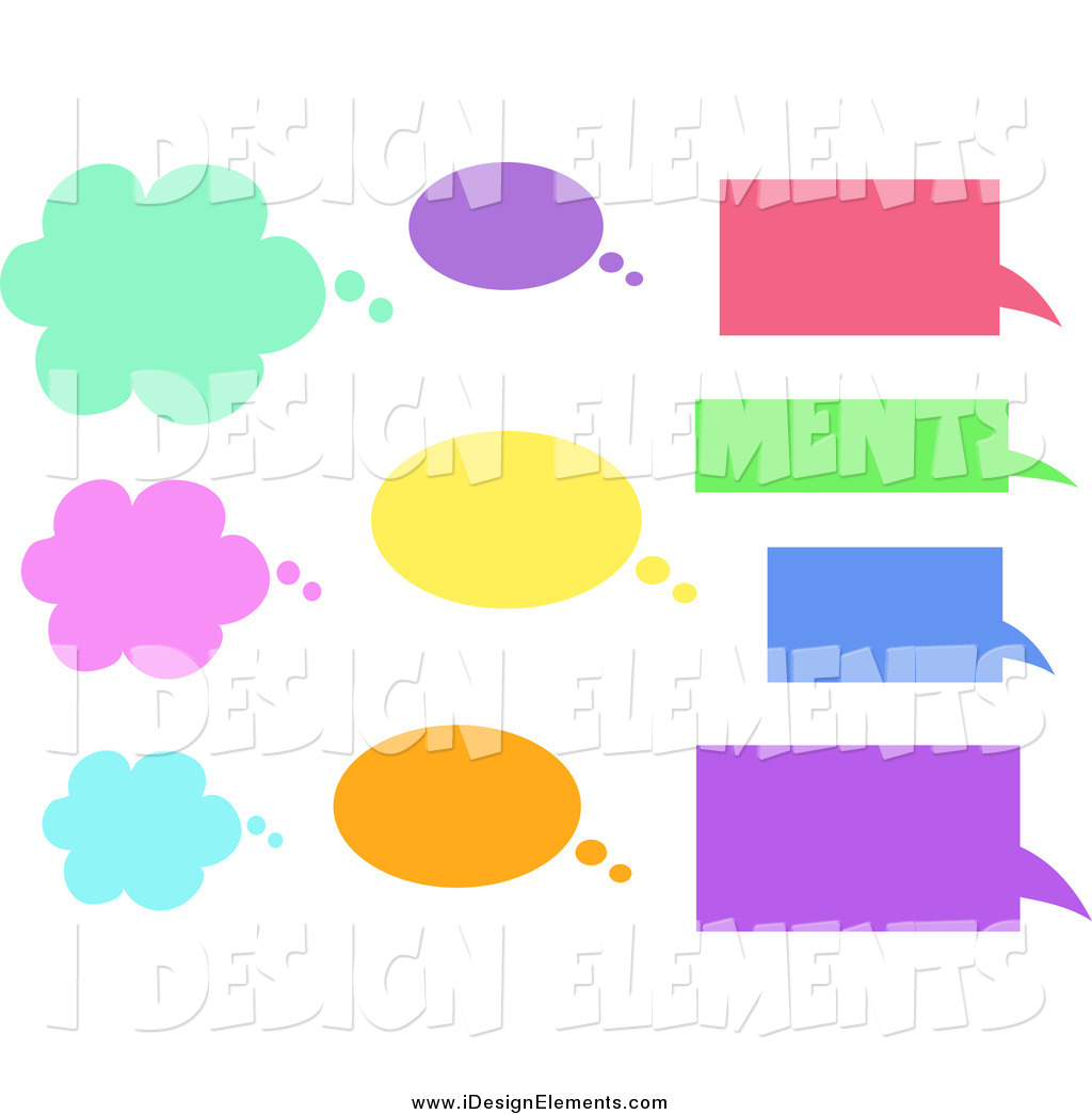 1024x1044 Clip Art Of Cloud, Oval And Rectangle Shaped Text Balloons By