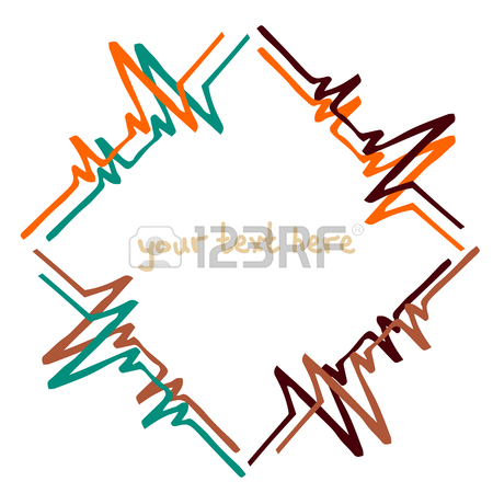450x450 Vector Frame Images Cardiogram. Handmade. There Is A Place
