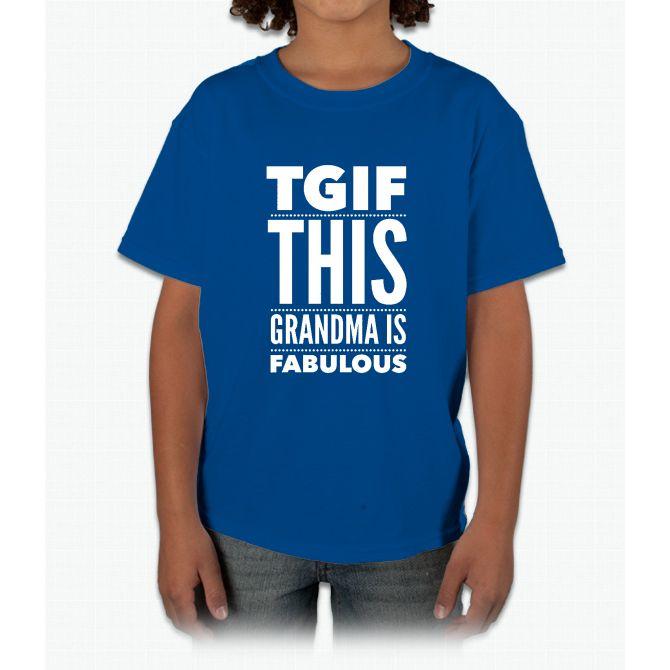 670x670 Women's Tgif This Grandma Is Fabulous Funny T Shirt Young T Shirt