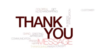 320x180 Thank You Animated Word Cloud, Text Design Animation. Kinetic