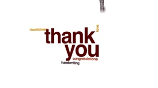 320x180 Thank You Animated Word Cloud, Text Design Animation. Motion