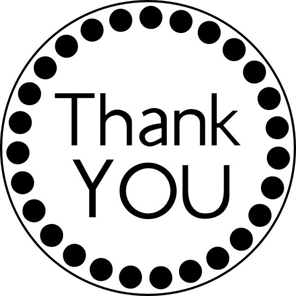 600x600 Thank You Black And White Thank You Sentiments Images On Card