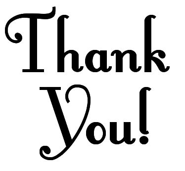 374x346 Thank You Clip Art Black And White Free Clipart