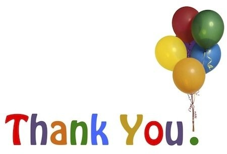 450x305 Thank You With Balloons Clip Art In Style