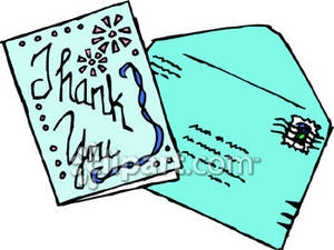 300x225 Thank You Card Clipart