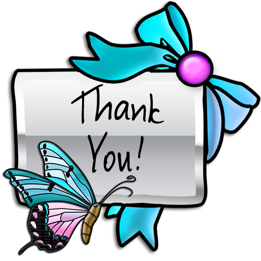 512x512 Graphics For Butterfly Thank You Clip Art Graphics Www