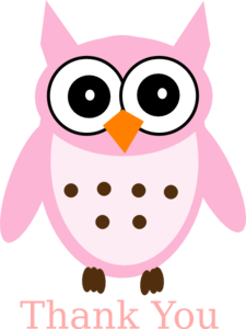 225x300 Thank You Owl Clipart