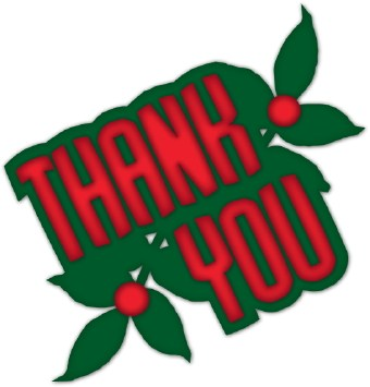 340x355 Free Christmas Thank You Clipart Merry Christmas And Happy New