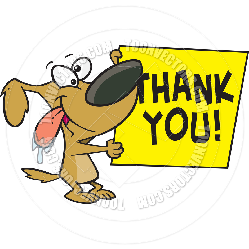 940x940 Cartoon Dog Thank You Sign By Ron Leishman Toon Vectors Eps