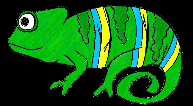 800x439 Chameleon Clip Art