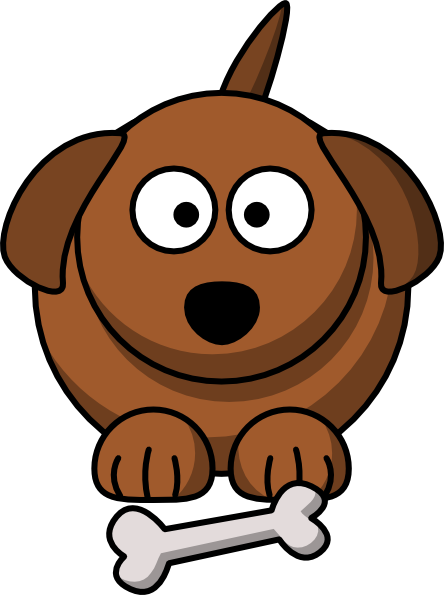 444x595 Animated Puppy Clipart