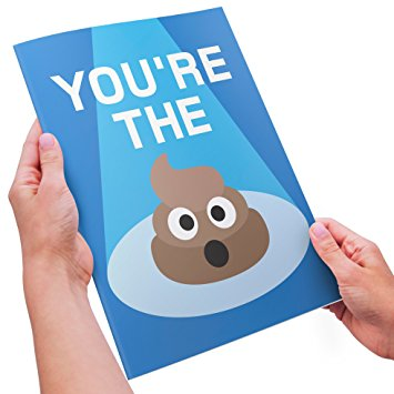 355x355 Funny Thank You Card Emoji