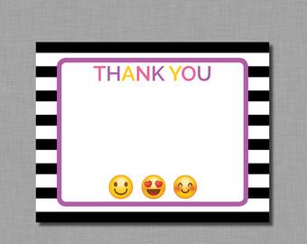 340x270 Emoji Thank You Note Etsy